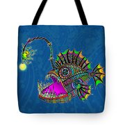 Electric Angler Fish Tote Bag
