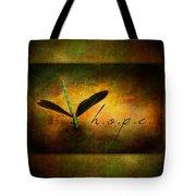 Hope Ebony Jewel Wing Damselfly On Golden Sunlight Dragonfly Tote Bag