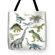 Dinosaurs Tote Bag by Amy Hamilton