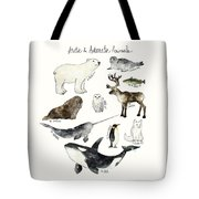 Arctic And Antarctic Animals Tote Bag