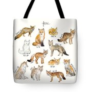 Foxes Tote Bag by Amy Hamilton