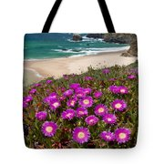 Cliff Flowers Tote Bag