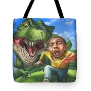 Tyrannosaurus Rex Jurassic Park Dinosaur - T Rex - Paleoart- Fantasy - Extinct Predator Tote Bag