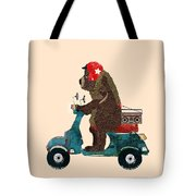 Scooter Bear Tote Bag by Bri Buckley