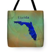Florida Map Tote Bag