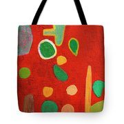 Scattered Things Over Red  Tote Bag