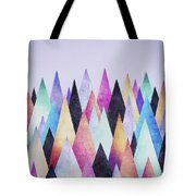 Colorful Abstract Geometric Triangle Peak Woods  Tote Bag