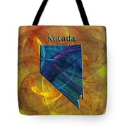 Nevada Map Tote Bag