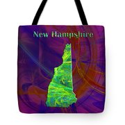 New Hampshire Map Tote Bag