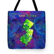 New Jersey Map Tote Bag