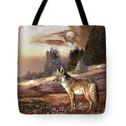 Encounter With The Iron Hors  Tote Bag