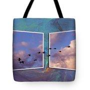 Flying Across Tote Bag