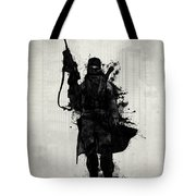 Post Apocalyptic Warrior Tote Bag