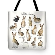 Rabbits And Hares Tote Bag by Amy Hamilton