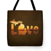 Love Lake Michigan Tote Bag