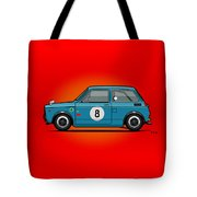 Honda N600 Blue Kei Race Car Tote Bag