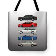 Stack Of Mercedes Benz W124 E-class Tote Bag