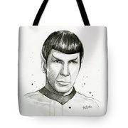 Spock Watercolor Portrait Tote Bag
