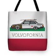 Volvofornia Slammed Volvo 242 240 Coupe California Style Tote Bag