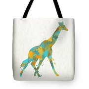 Giraffe Watercolor Art Tote Bag