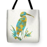 Heron Watercolor Art Tote Bag