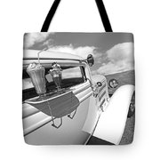 Deuce Coupe At The Drive-in Black And White Tote Bag