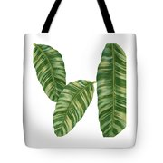 Rainforest Resort - Tropical Banana Leaf  Tote Bag