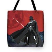 Darth Vader Star Wars Character Quotes Poster Tote Bag by Lab No 4
