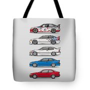 Stack Of Bmw 3 Series E36 Coupes Tote Bag