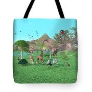 An Exotic Wild Animal Scene Tote Bag