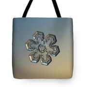 Snowflake Photo - Massive Gold Tote Bag by Alexey Kljatov