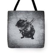 Angry Street Art Mouse  Hamster Baseball Edit  Tote Bag
