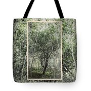Blue Vintage Hand Of God Apple Tree Tote Bag
