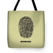 Improve Daily Business Quotes Poster Tote Bag