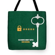 Open New Doors Business Quotes Poster Tote Bag