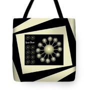 Three Dimensional Space Flower Tote Bag