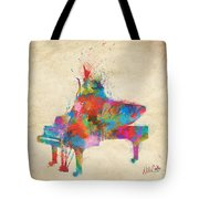 Music Strikes Fire From The Heart Tote Bag
