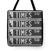 Times Square New York City Street Sign Deco Swing Tote Bag