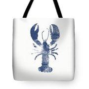Blue Lobster- Art By Linda Woods Tote Bag by Linda Woods