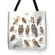 Owls Tote Bag by Amy Hamilton