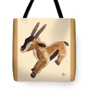 Cuddly Gazelle Watercolor Tote Bag