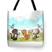 Kittens Washing Mittens Tote Bag