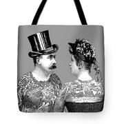 Tattooed Victorian Lovers Tote Bag