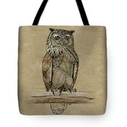Paper Bag Owl Tote Bag