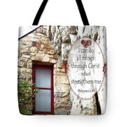 With Me - Verse And Heart Tote Bag