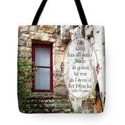 With Me - Quote Tote Bag