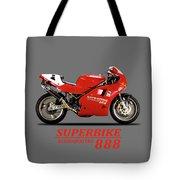 Ducati 888 Tote Bag