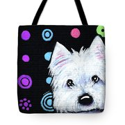 Kiniart Disco Westie Tote Bag