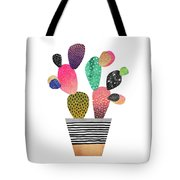 Happy Cactus Tote Bag by Elisabeth Fredriksson