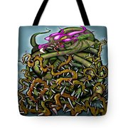 Dragon In Thorns Tote Bag